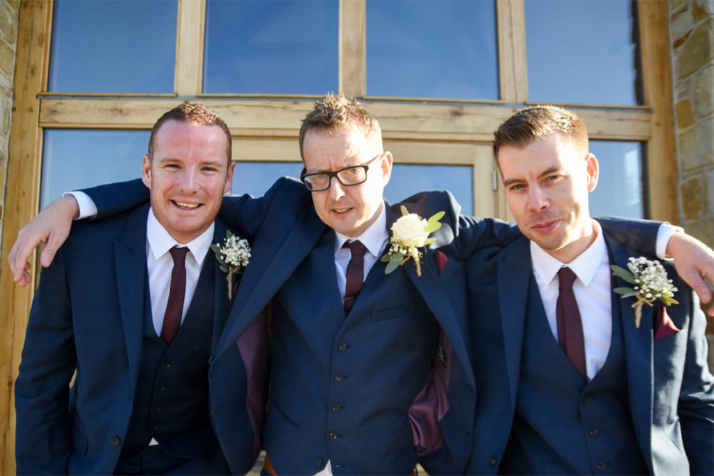 Richard with groomsmen