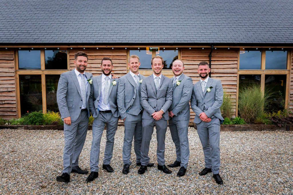 John with his groomsmen