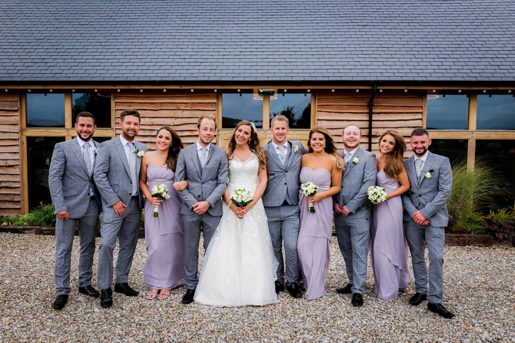 Mary and John with their bridesmaids/groomsmen