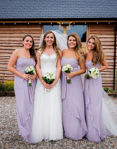 Mary with her bridesmaids
