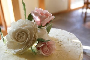 flowers on a cake