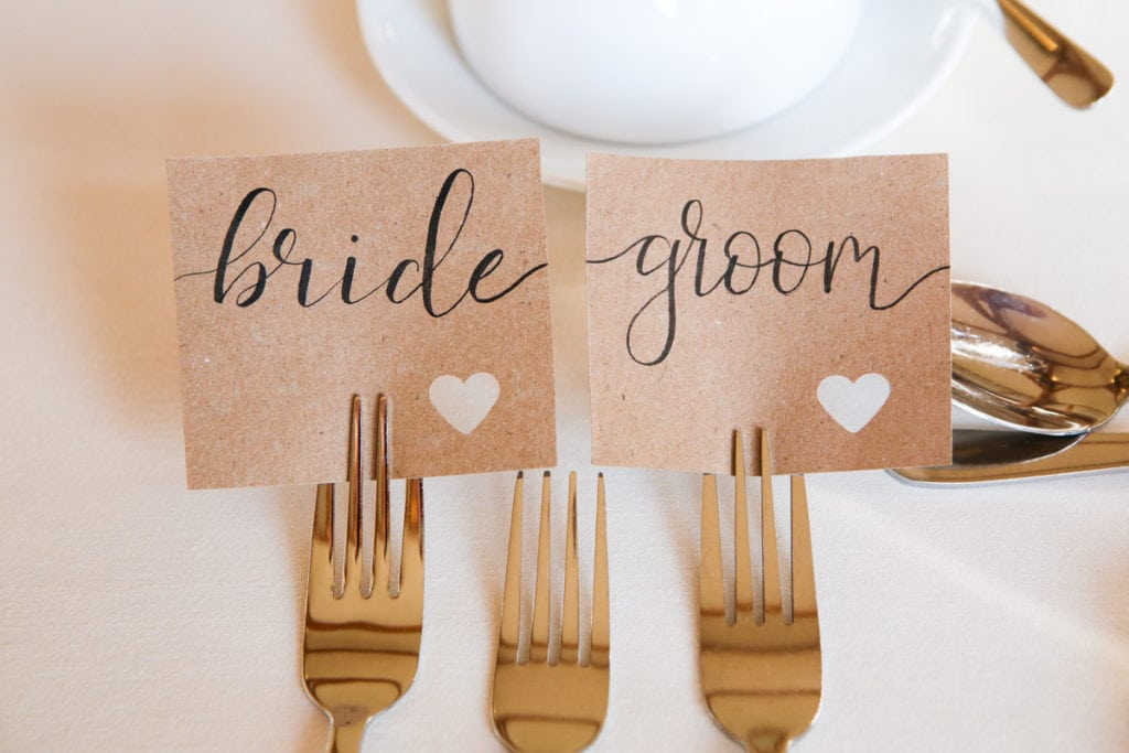 Bride and groom cards