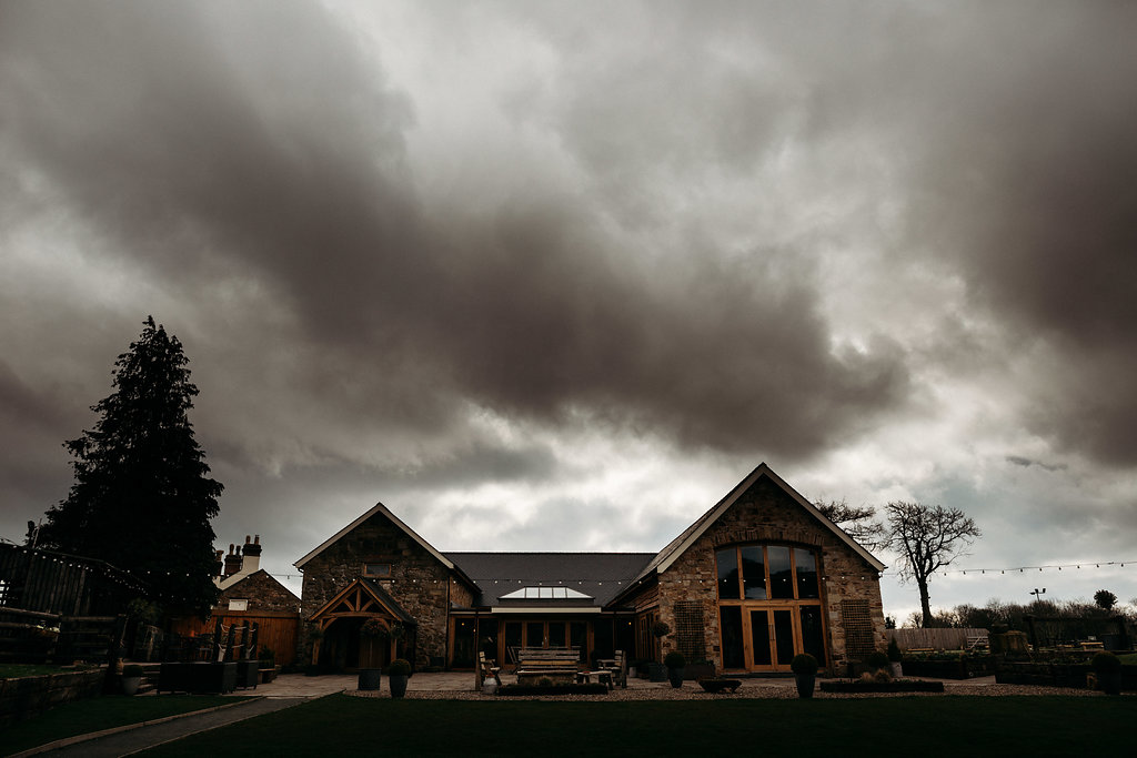 Venue pictured on a cloudy day