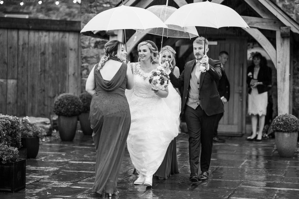 Tom and Natalie photographed by Richard Miller in the rain at Tower Hill Barns in North Wales
