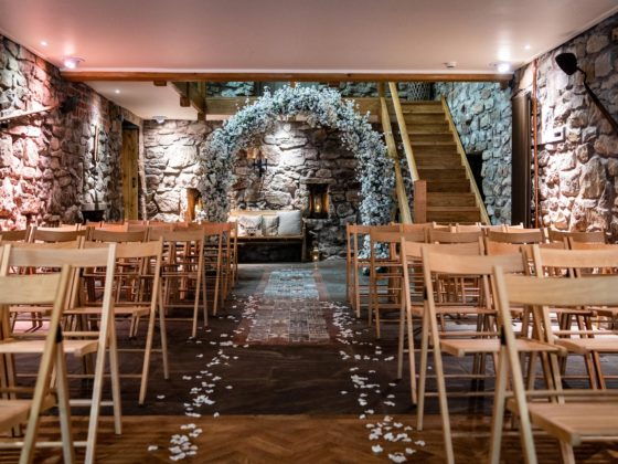 Romantic & intimate wedding venue, North Wales - Tower Hill Barns