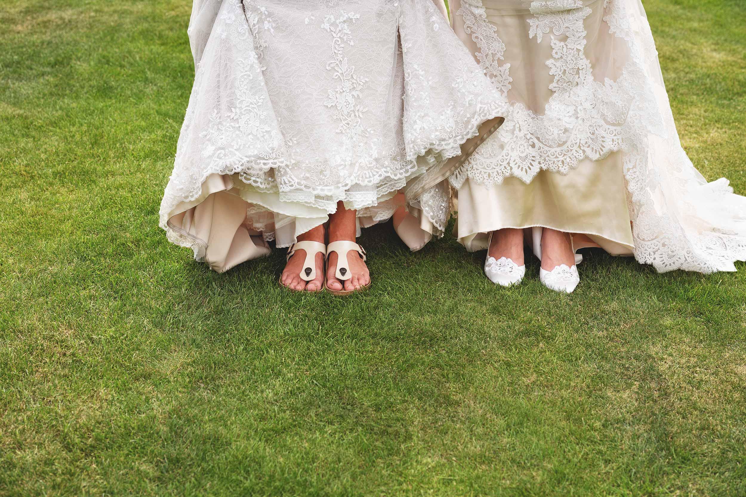 same-sex wedding photos at Tower Hill Barns LGBTW+ friendly wedding venue