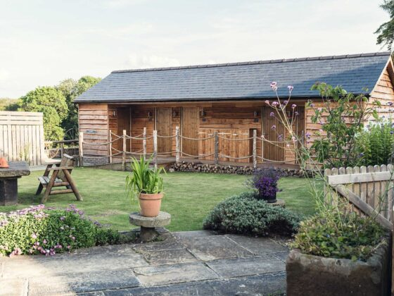 luxury glamping pods to sleep 8 guests; Tower Hill Barns Wedding Accommodation North Wales
